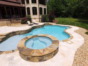 Iron Station Residential Concrete Gunite Pools Vs Fiberglass Pools